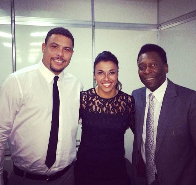 Ronaldo Pelé e Marta Instagram (Foto: Reprodução / Instagram)