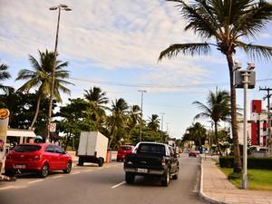 Avenida Cabo Branco ganha novos radares (Foto: Rafael Queiroz/Secom-JP)