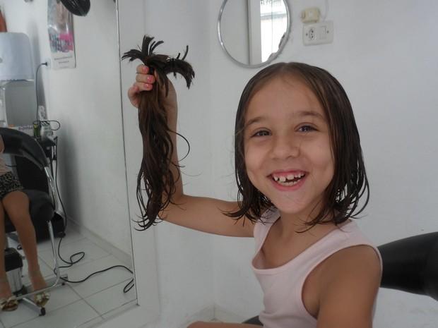 Os cabelos serão doados ao Graac. (Foto: Reprodução/Arquivo Pessoal)