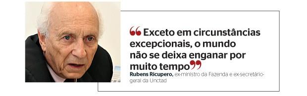 Rubens Ricupero (Foto: Fernanda Bernardino/Ed. Globo)