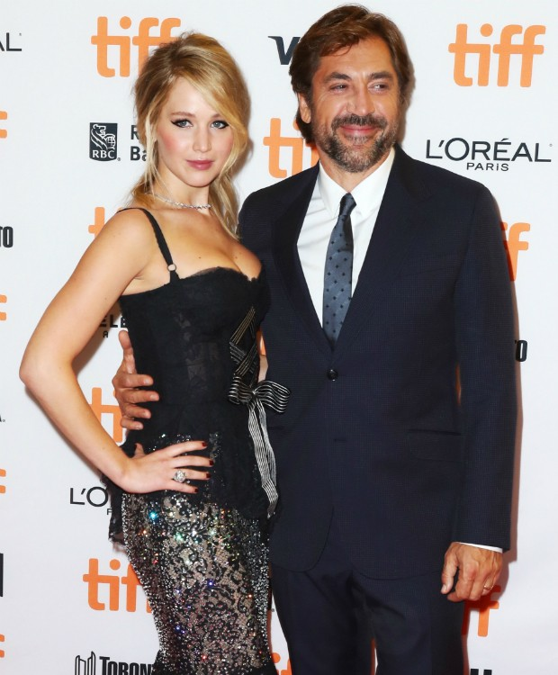Jennifer Lawrence e Javier Bardém (Foto: Getty)