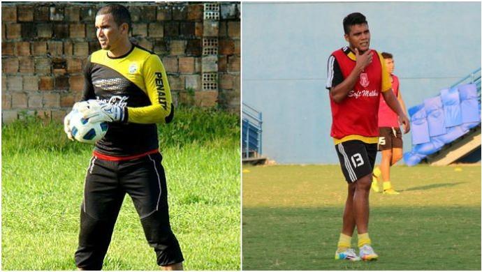 Baé e Rascifran assinam com o Sapão (Foto: GloboEsporte.com)