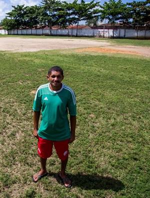 José Carlos, pai do atacante Marinho (Foto: Jonathan Lins / GloboEsporte.com)