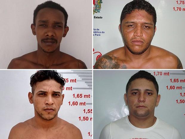 Isaac José Serrão, Rafael do Carmo, Douglas Santos e Silas da Silva (Foto: Divulgação/Ascom Susipe)
