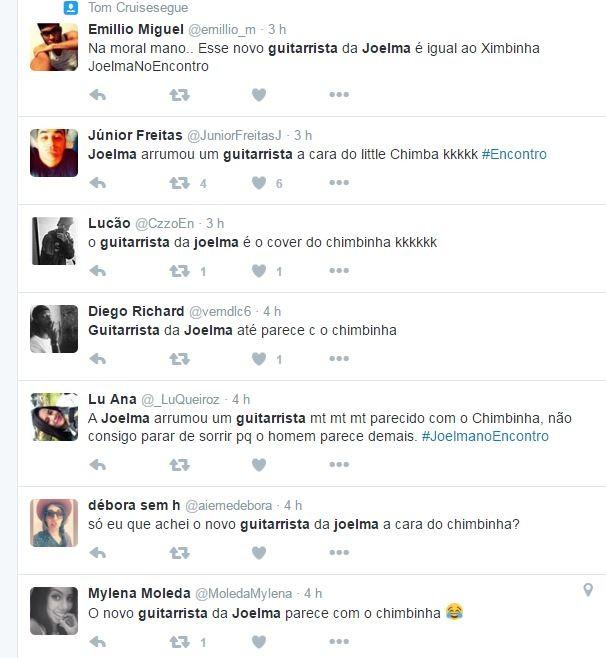Internautas comparam novo guitarrista de Joelma com Ximbinha (Foto: Reprodução/Twitter)