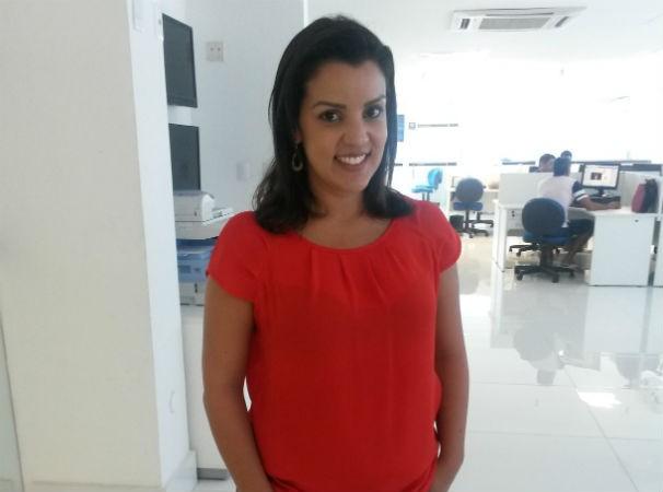 Repórter Camila Torres se despede da Inter TV Cabugi (Foto: Alessandra Lima)