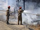 Incêndio em matagal assusta moradores do bairro Santo Antônio