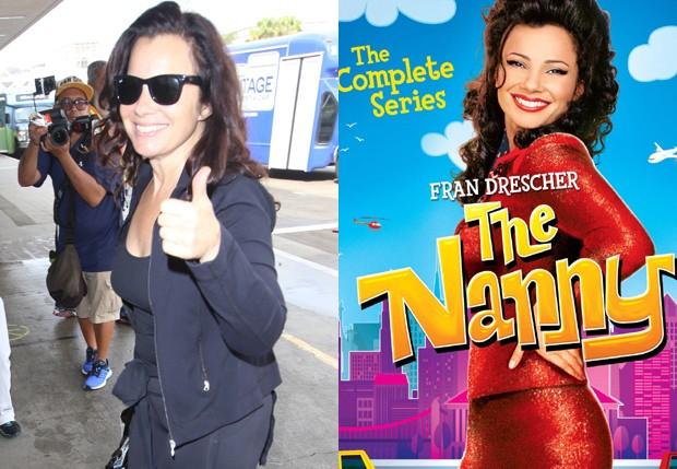 Fran Drescher atualmente e na época de 'The Nanny' (1993-1999) (Foto: AKM-GSI e Reprodução)