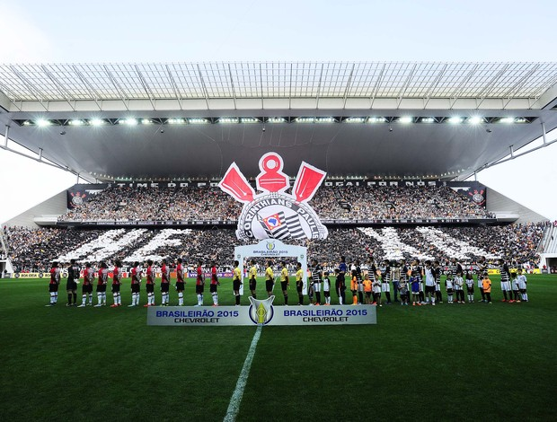 Corinthians x São Paulo arena mosaico times
