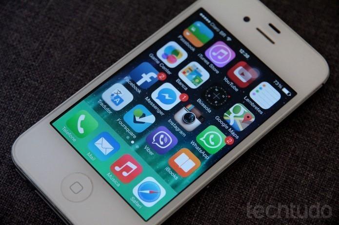 O iPhone 4S tem uma câmera de 8 MP (Foto: Luciana Maline/TechTudo)