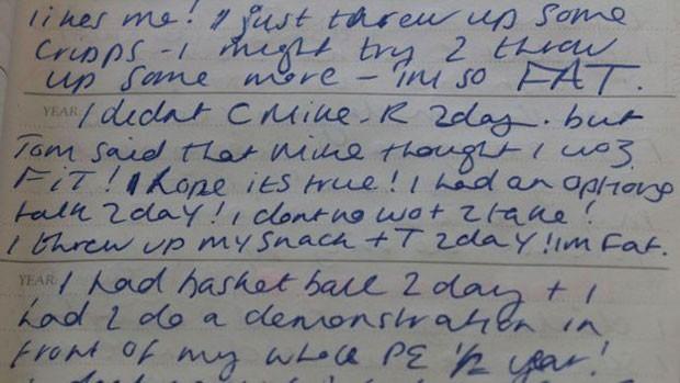 'Acabei de vomitar algumas batatas chips e talvez tente vomitar mais. Estou tão GORDA' (Foto: BBC/Arquivo Pessoal)