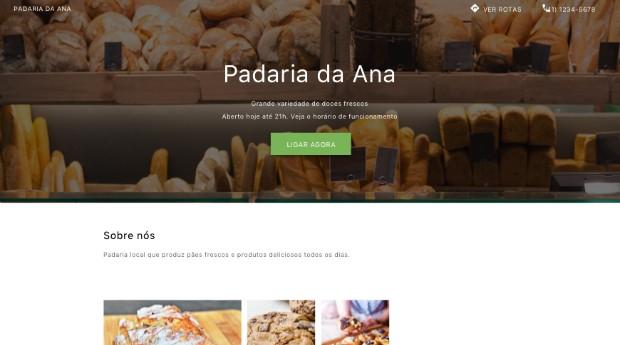 Exemplo de site criado no Google Meu Negócio (Foto: Divulgação)
