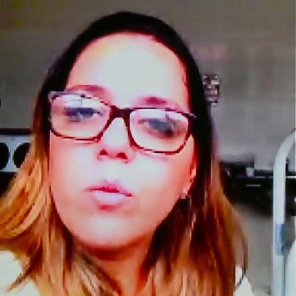 A dentista Alessandra Almeida foi à Brasília pedir celeridade no processo (Foto: Reprodução/RBS TV)