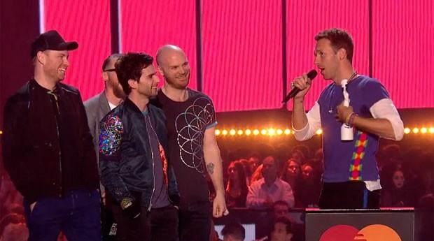 Coldplay BRIT Awards 2016 (Foto: reproduo)