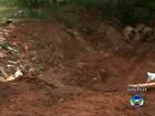 Buraco aberto pela chuva oferece risco a imóvel em Bauru