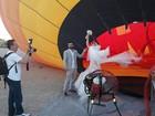 Laura Keller e Jorge Sousa se casam em balão em Las Vegas