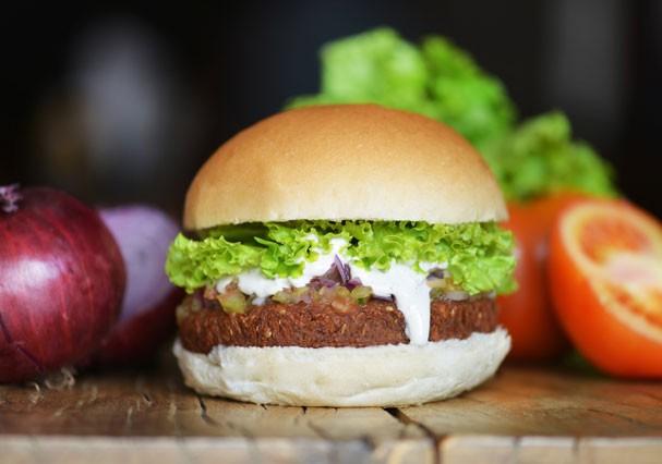 Hambúrguer vegetariano de falafel (Foto: Divulgação)
