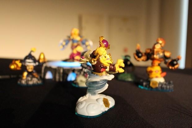 Novos Skylanders de 'Swap Force' (Foto: Bruno Araujo/G1)