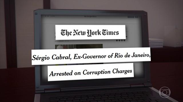 Prisão de Sérgio Cabral repercute na imprensa internacional