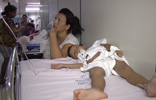 Hospital Materno Infantil muda sistema de atendimento para evitar superlotação em Goiânia, Goiás (Foto: Reprodução/TV Anhanguera)