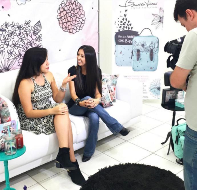 Blogueira fala do carinhos dos fãs  (Foto: RBS TV/Divulgação )