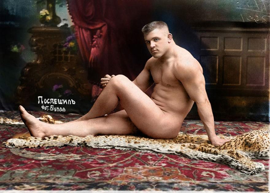 Lutador Karl Pospischil, em 1912 (Foto: Reprodução)
