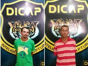 Os foragidos foram apresentados a Dicap (Foto: Divulgação/ Dicap)