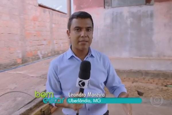 Leandro Moreira mostrou possíveis locais de água parada em casa (Foto: Divulgação   TV Integração )