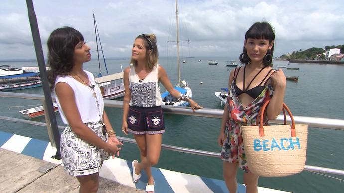 A produtora de moda Kellen Machado dá dicas de moda praia (Foto: TV Bahia)
