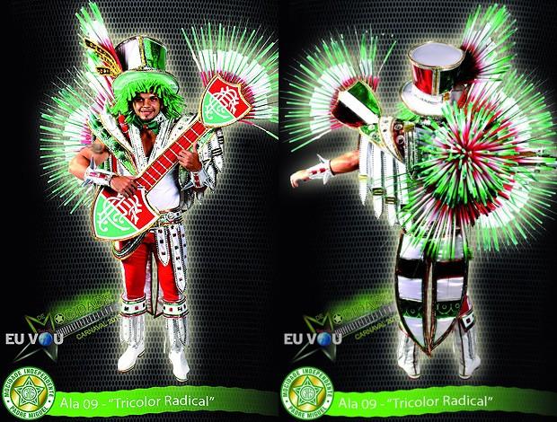 Fantasia Carnaval Fluminense Mocidade (Foto: Reprodução)