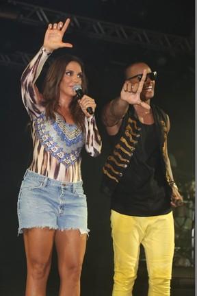 Léo Santana e Ivete Sangalo em show em Salvador, na Bahia (Foto: Fred Pontes/ Divulgação)