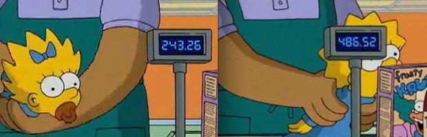 O 'novo preço' de Maggie Simpson na abertura de 'Os Simpsons' (Foto: Divulgação)