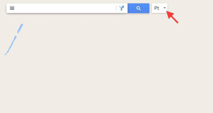 Acessando as opções de escrita do Google Maps (Foto: Reprodução/Marvin Costa)