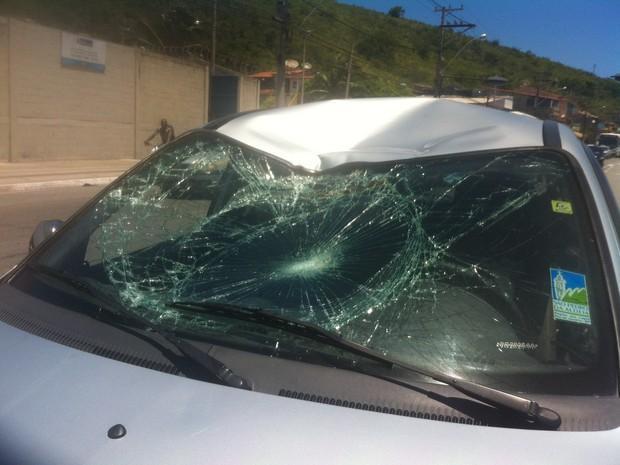 atropelamento na estrada dos passageiros em cabo frio (Foto: Heitor Moreira/G1)