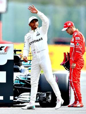 Lewis Hamilton é pole na Bélgica