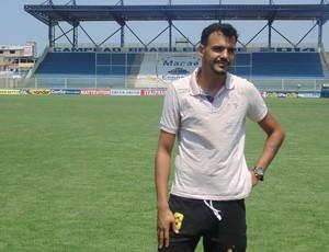 entrevista com goleiro rafael, macaé (Foto: Gustavo Garcia / GloboEsporte.com)
