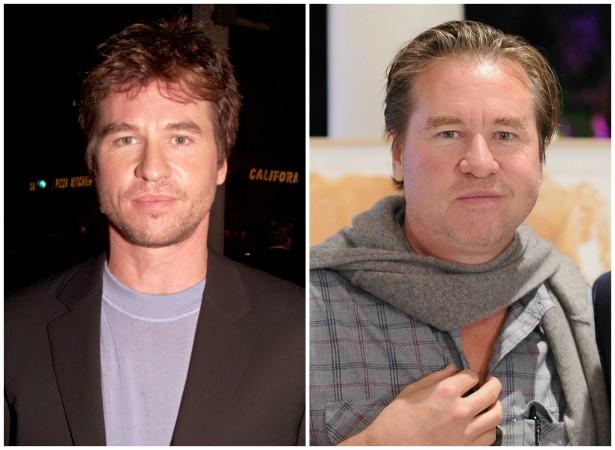 O ator Val Kilmer em novembro de 2000 e em dezembro de 2013. (Foto: Getty Images)
