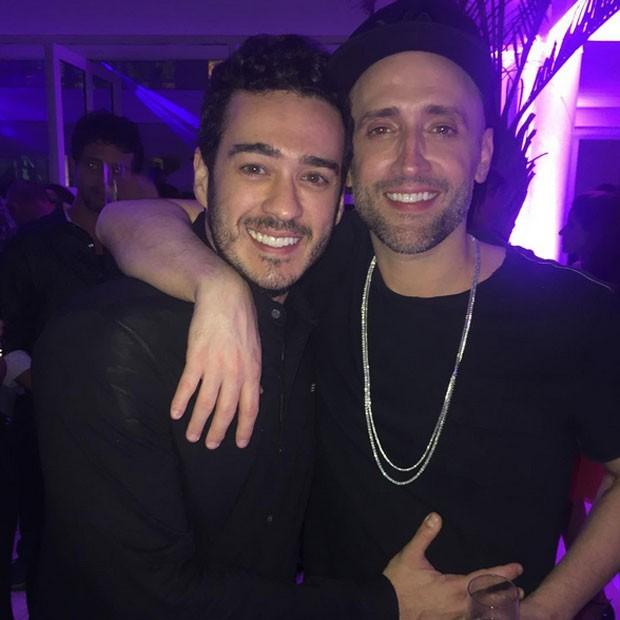 Marcos Veras e Paulo Gustavo em festa na Zona Sul do Rio (Foto: Instagram/ Reprodução)
