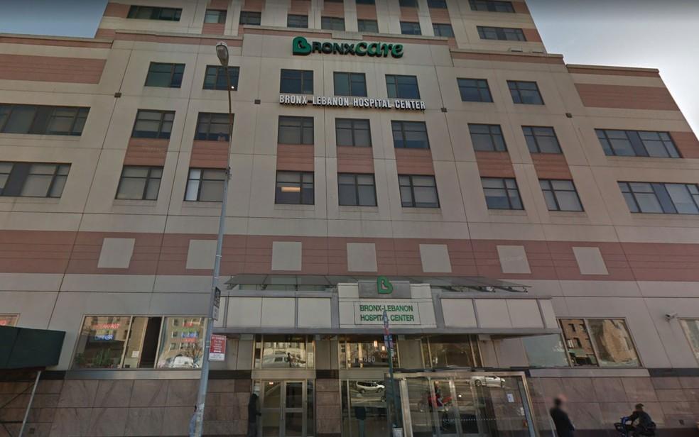 Fachada do Bronx-Lebanon Hospital Center, em Nova York (Foto: Reprodução/Google Street View)