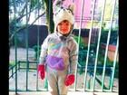Filha de Ticiane Pinheiro posa com gorro de cachorrinho