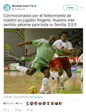 7932fcb751 Morre jogador brasileiro campeão europeu de futsal