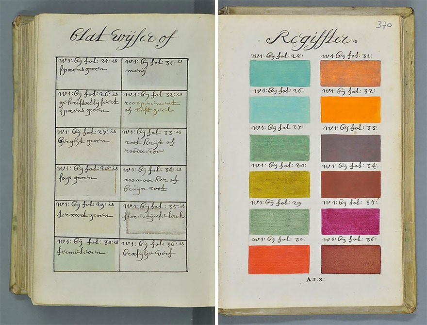 Catálogo de cores elaborado na Idade Moderna (Foto: Reprodução)