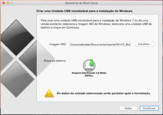 Selecionando a imagem ISO do Windows (Foto: Reprodução/Edivaldo Brito)