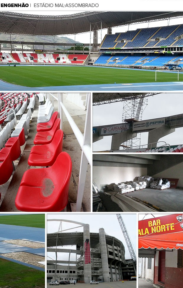 Mosaico - engenhão |  estádio mal-assombrado (Foto: Editoria de Arte)