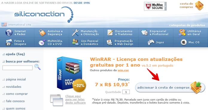 Comprando registro do aplicativo (Foto: Reprodução/Helito Bijora)