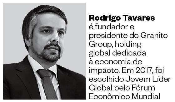 Rodrigo Tavares é fundador e presidente do Granito Group, holding global dedicada à economia de impacto. Em 2017, foi escolhido Jovem Líder Global pelo Fórum Econômico Mundial (Foto: Divulgação)