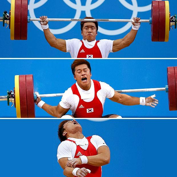 Jaehyouk Sa, Coreia do Sul, Levantamento de Peso (Foto: Agência Reuters)