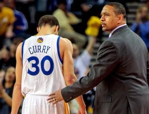 basquete nba  Stephen Curry e mark jackson warriors (Foto: Agência AP)