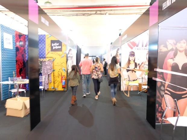 Maior feira do setor de moda íntima do Brasil foi aberta nesta quarta-feira (6) (Foto: Fevest / Divulgação)