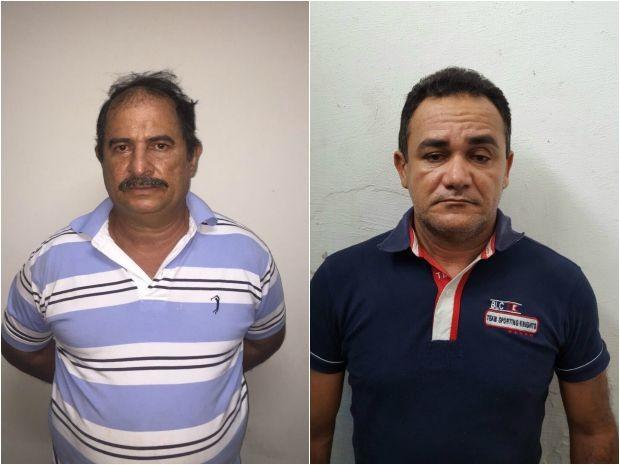 Francisco Gomes, à esquerda, é apontado pela polícia como líder da quadrilha (Foto: Polícia Civil/Divulgação)